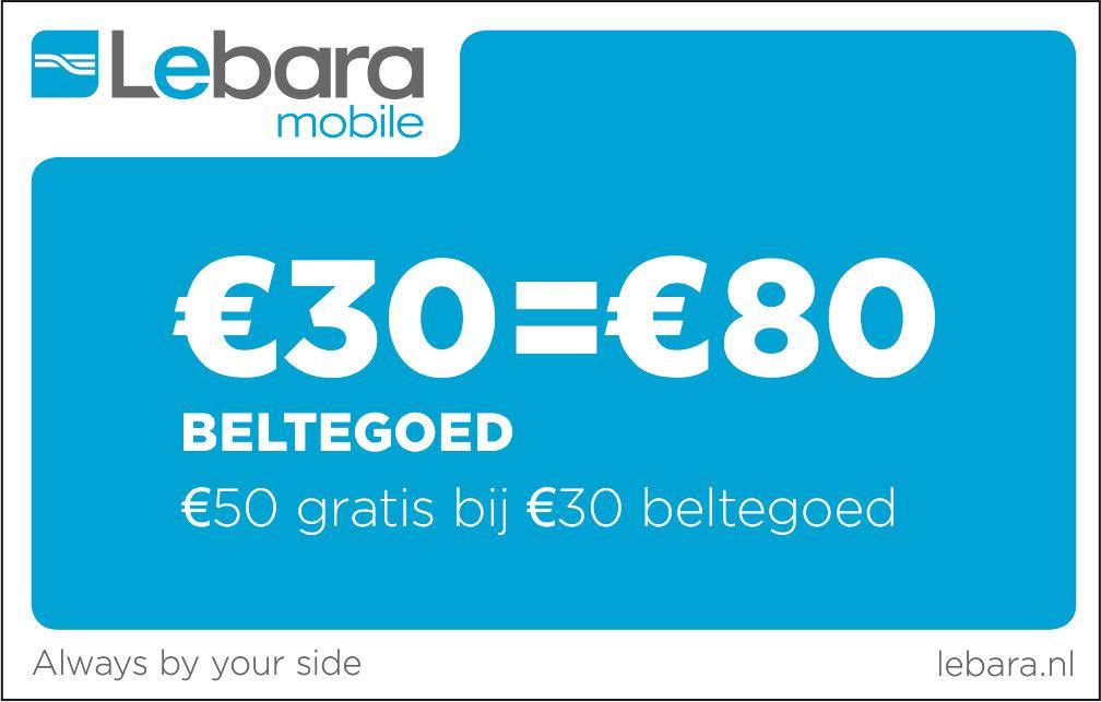 Lebara 30 euro