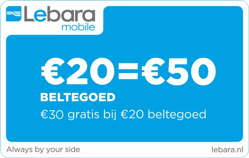 Lebara 20 euro